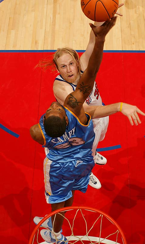 Camby won the 2006-07 Defensive Player of the Year award after averaging a league-high 3.3 blocks a game and leading all centers with 1.24 steals. Camby's career average of 2.56 blocks ranks fourth among active players, and his three blocked-shot titles put him one behind the NBA's all-time record, shared by Kareem Abdul-Jabbar and Mark Eaton.